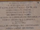 Targa in ricordo di Francesco Paolo Di Blasi