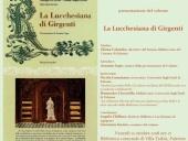 """Presentazione del volume """"La Lucchesiana di Girgenti"""""""